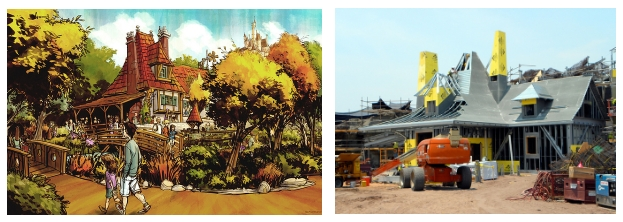 Magic Kingdom Fantasyland Expansion Construction Photos