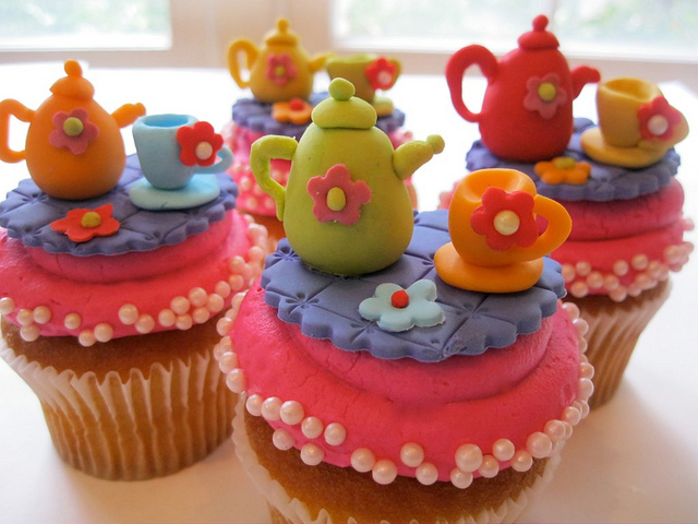 Tea Party Cupcake Toppers