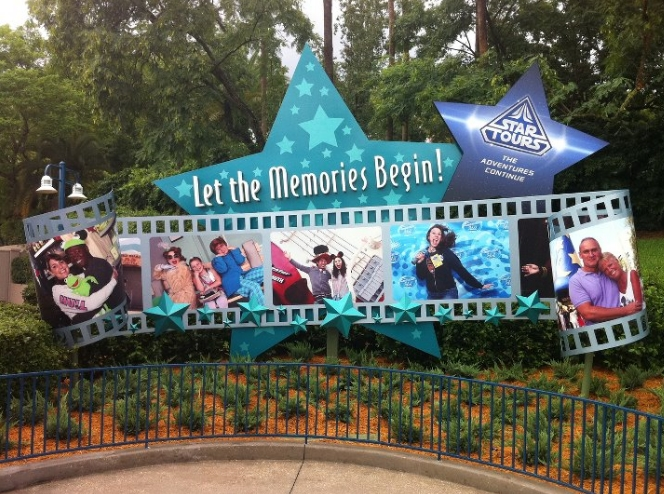 "New ""Let the Memories Begin"" Signage Outside Disney's Hollywood Studios"