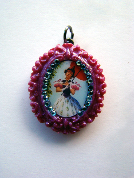 Haunted Mansion Parasol Girl sparkling charm