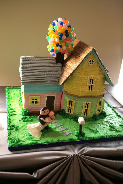 Disney UP Wedding Cake