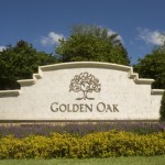 Golden Oak Disney Sign