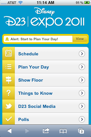 Disney D23 Expo Mobile App iPhone