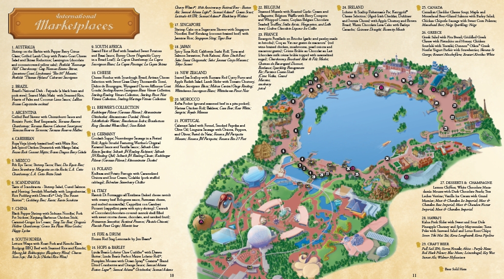 2011 Epcot Food and Wine Festival Map