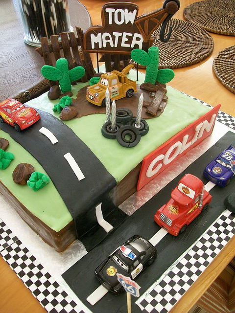 Disney Pixar Cars Birthday Party Cake