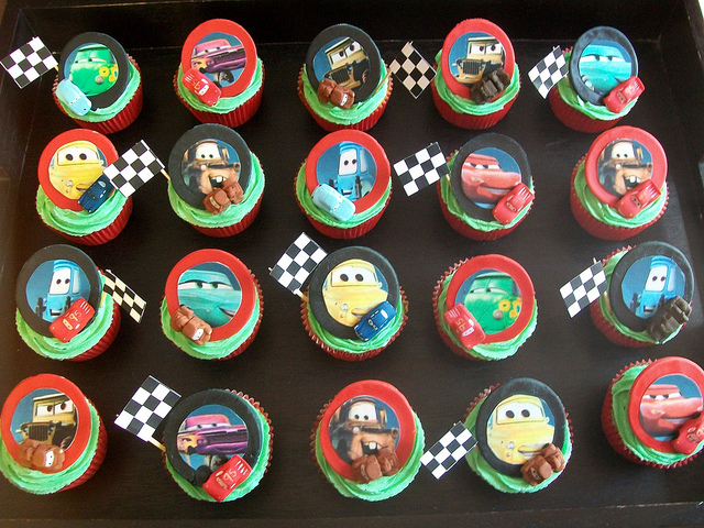 Disney Pixar Cars Birthday Party Cupcakes