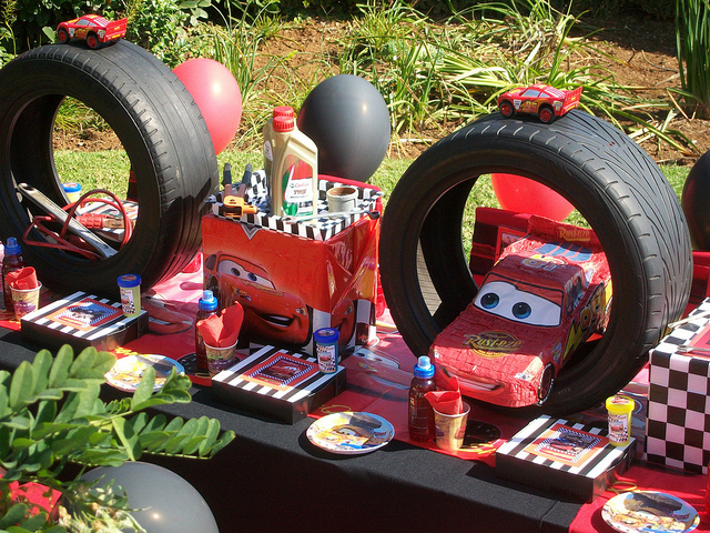 Disney Pixar Cars Birthday Party Table Idea Close Up