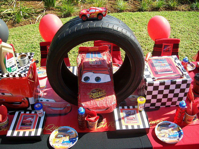 Disney Pixar Cars Birthday Party Table