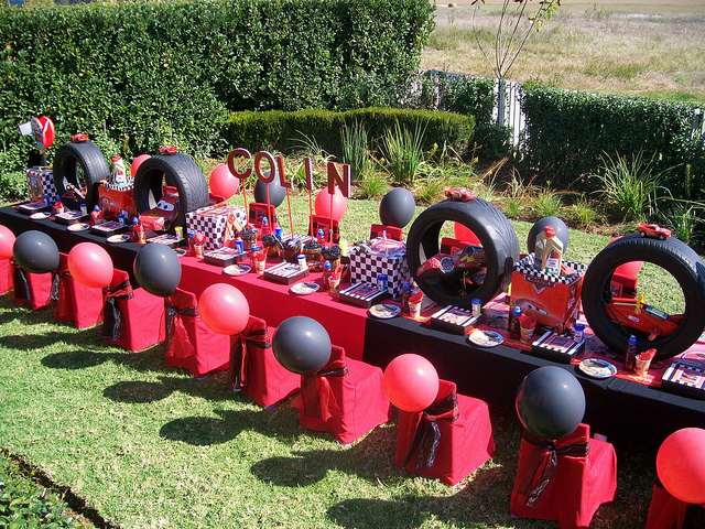 Disney Pixar Cars Birthday Party Table Idea