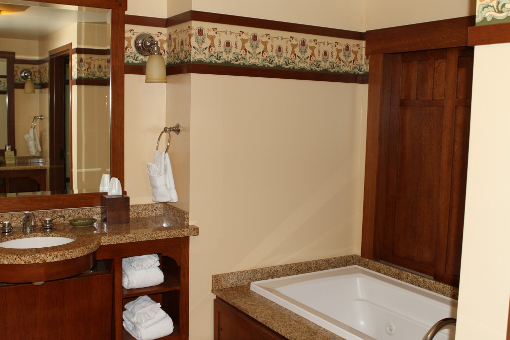 Disney Grand Californian Grand Villa master bathroom