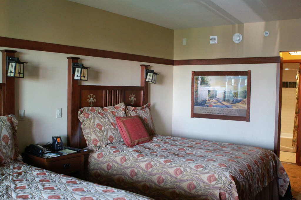 Disney Grand Californian Grand Villa Smaller upstairs bedroom