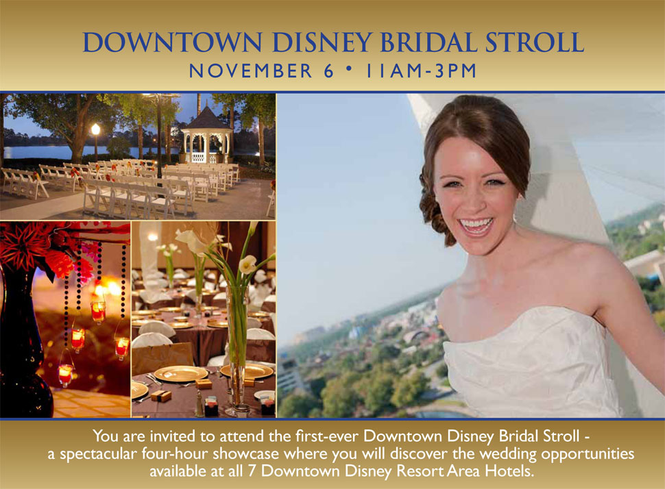 Inaugural Downtown Disney Bridal Stroll Coming in November 2011