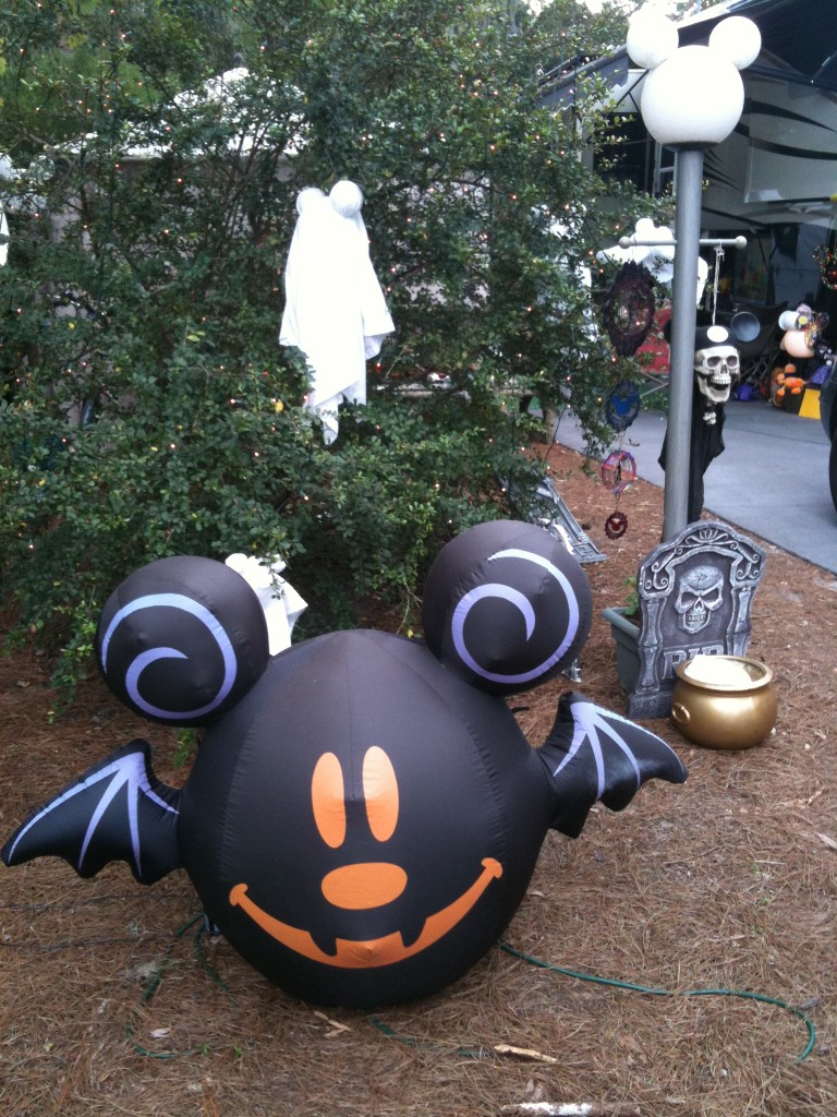 Halloween Blowup Mickey Bat