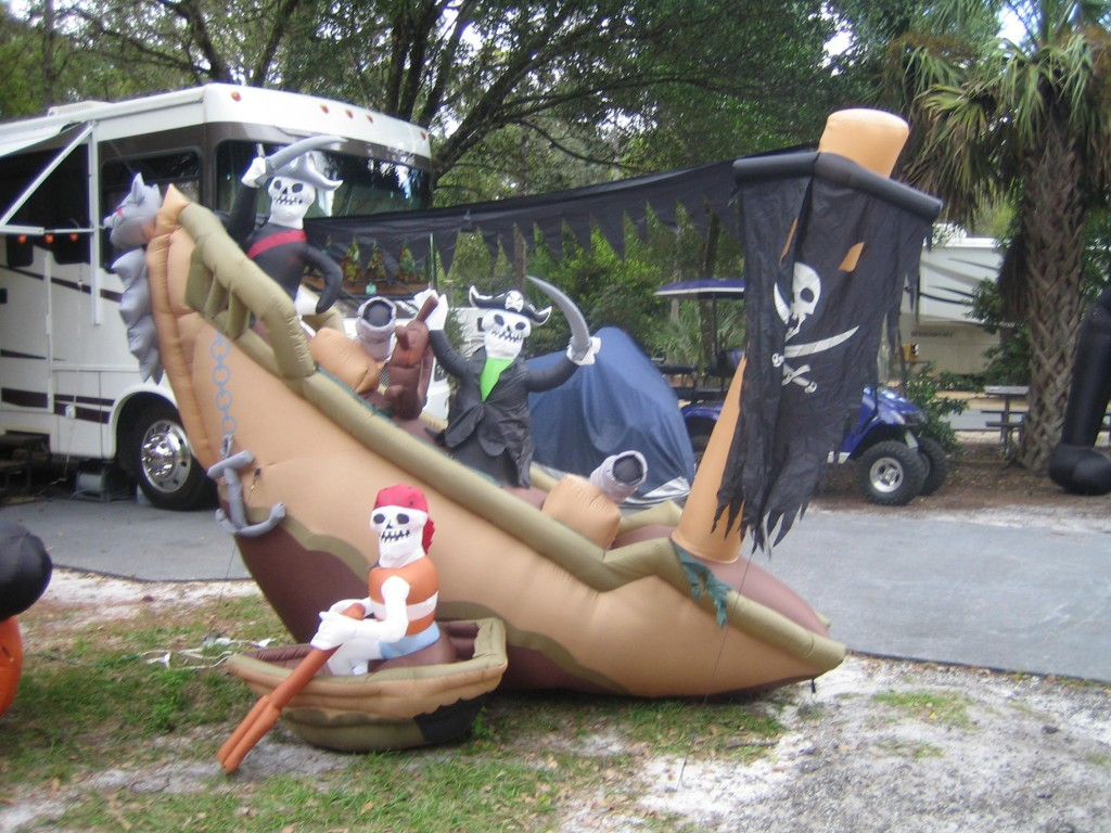 Halloween Pirate Ship Blowup