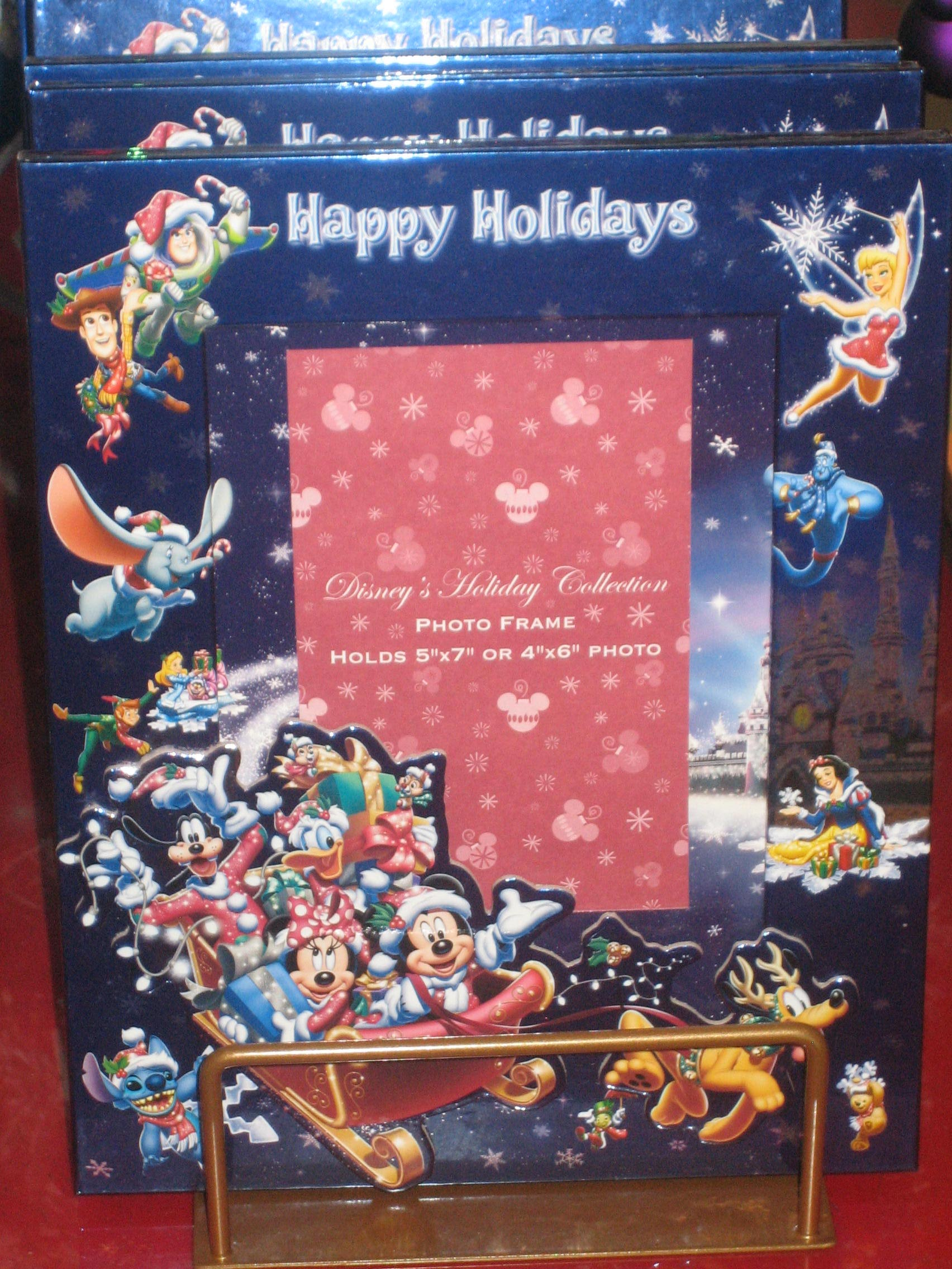 happy holidays disney picture frame image 1228 - Disney World Picture Frames