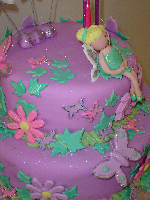 Tinkerbell Birthday Party Cake