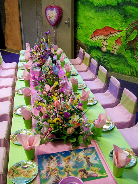Disney Tinker Bell Themed Birthday Party Celebration Idea Disney