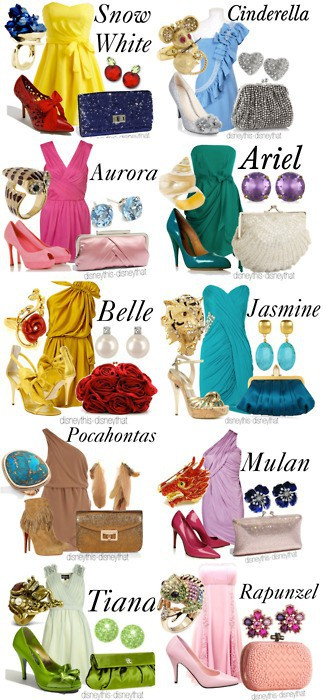 dress like a modern day disney princess