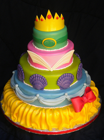 Disney Princess Mashup Cake