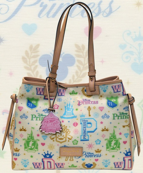 disney dooney and bourke 2012 princess half marathon medium tote