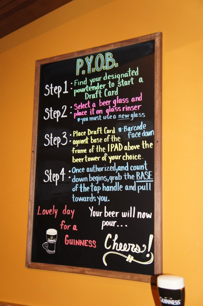 The Pub Orlando Beer Wall Instructions
