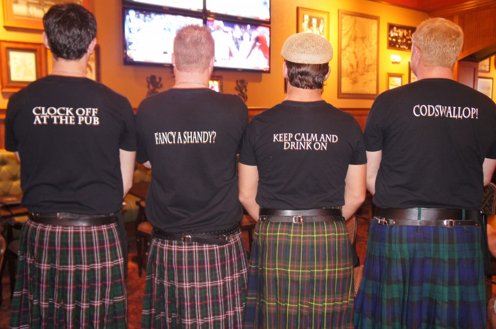 The Pub Orlando shirts and kilts