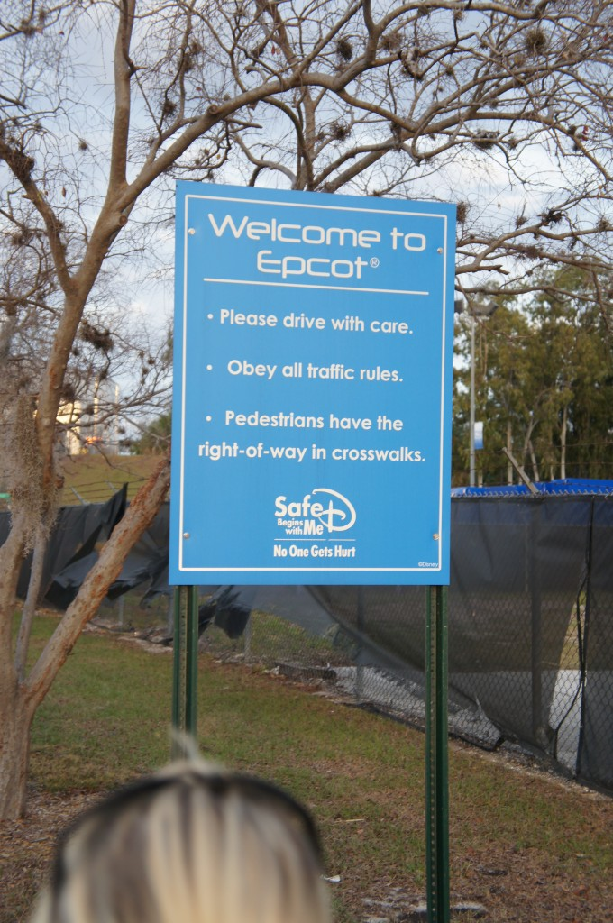 Backstage Epcot Pictures signage