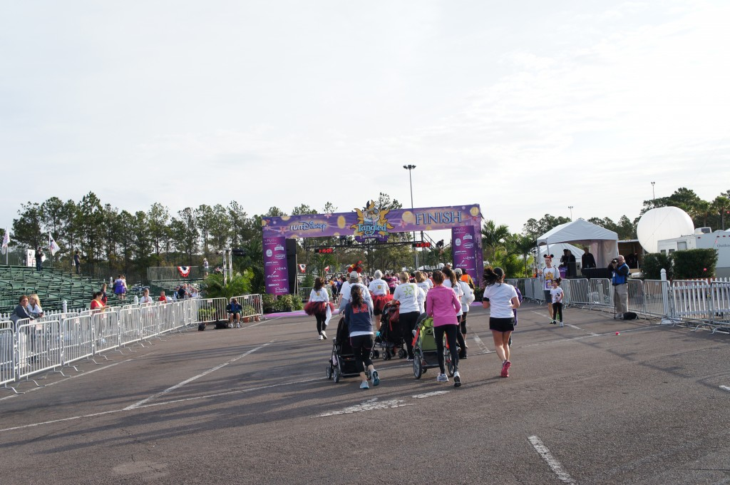 2012 Disney Tangled Royal Family 5K Finish Line