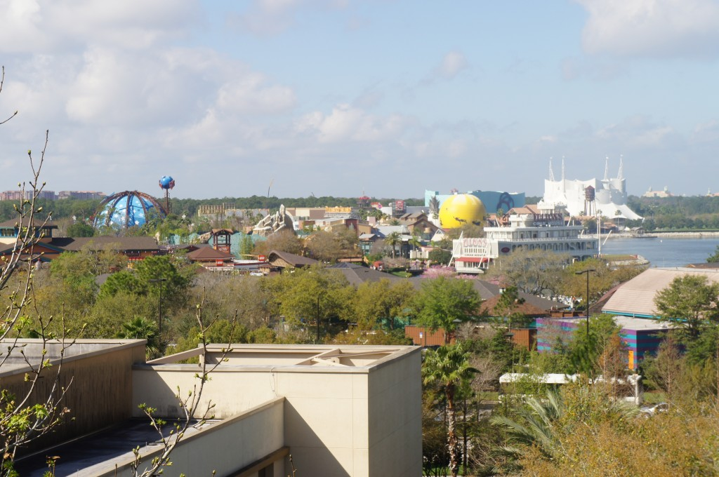 Downtown Disney viewed from the Hilton Lake Buena Vista