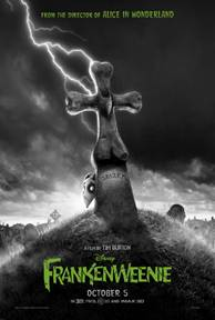 Frankenweenie Movie Poster Disney