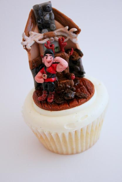 Disney Beauty and The Beast Cupcake Gaston