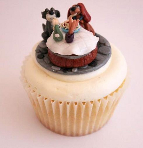 Lady & the Tramp Cupcake