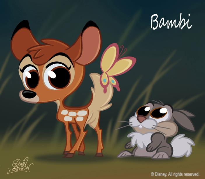 Classic Disney Movie Characters Chibi Style By Artist