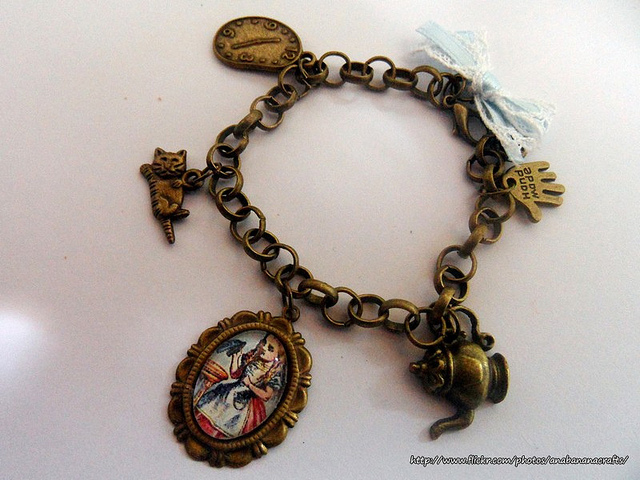 Custom Alice in Wonderland Disney Charm Bracelet2
