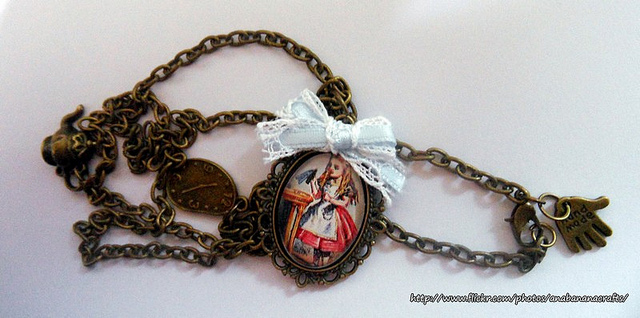 Custom Alice in Wonderland Disney Necklace