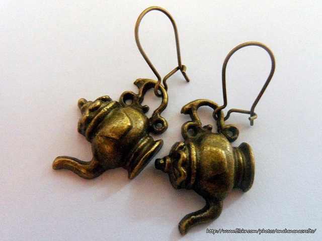 Custom Alice in Wonderland Disney Tea Pot Earrings