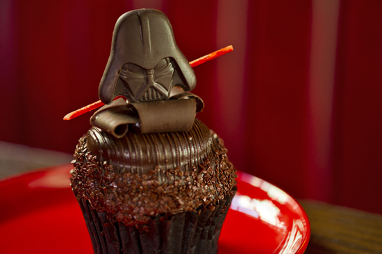 Chocolate Star Wars Weekends 2012 Darth Vader Cupcake