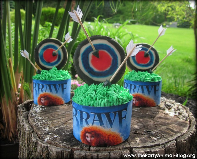 Disney Pixar BRAVE Arrow and Target Cupcakes