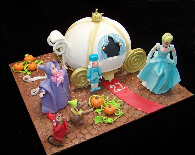 Disney Cake Designs : Disney Cinderella Carriage Scene Birthday Cake Disney ...