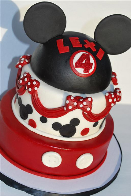 Disney Mickey Mouse Ears Birthday Cake
