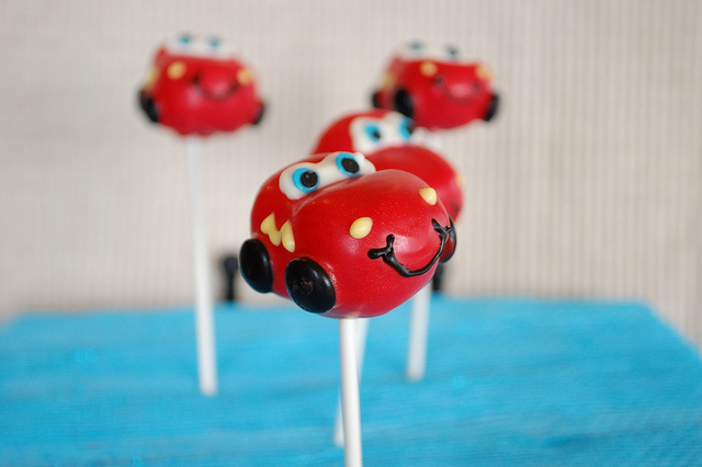 Disney Pixar Cars Lightning Mcqueen Cake Pops Disney