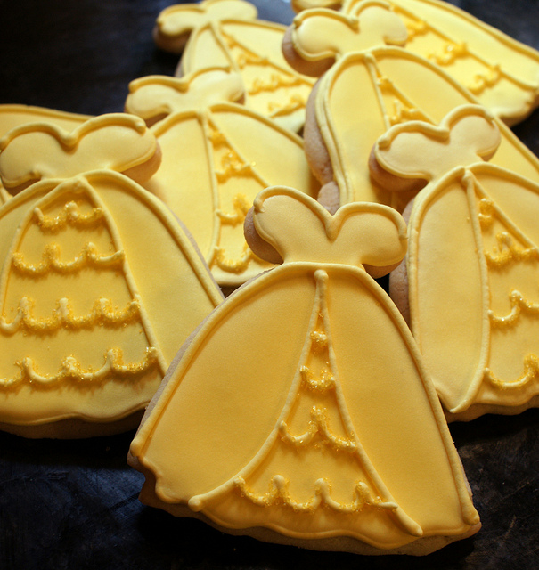 Disney Princess Belle Yellow Ball Gown Cookies