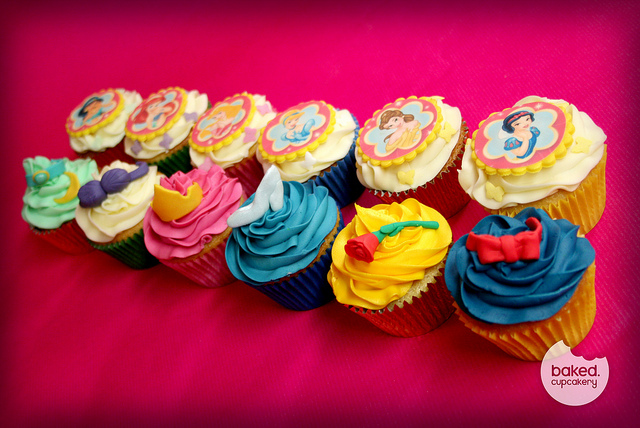 Our Favorite Disney Princess Cupcakes