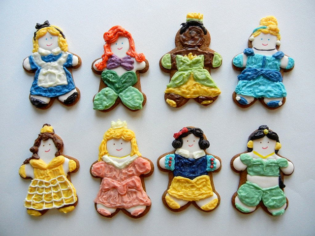 Disney Princess Gingerbread Cookies for the Summer