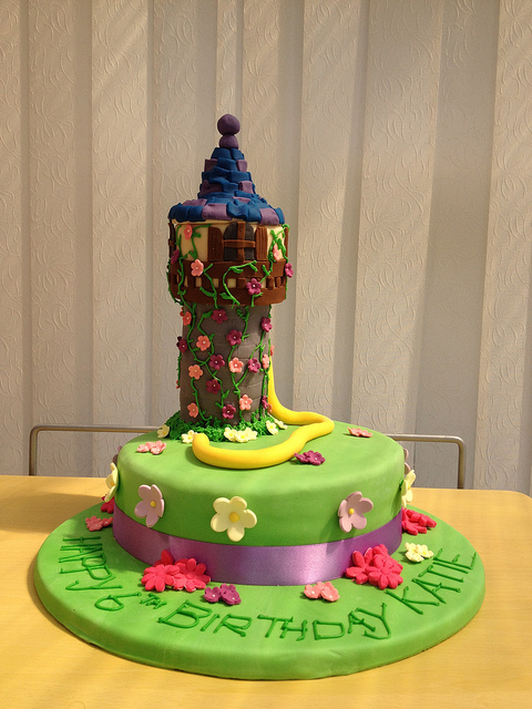 Disney Rapunzel Tangled Tower Birthday Cake