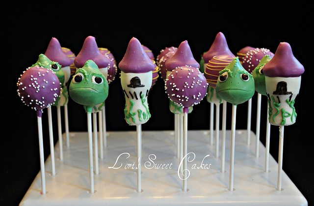 Disney Tangled Tower and Pascal Cake Pops