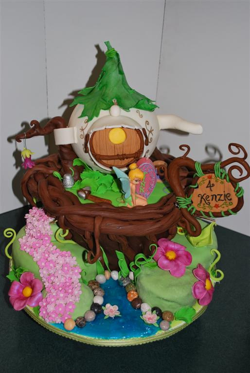 Disney Tink Teapot Fairy House Birthday Cake Disney Every Day