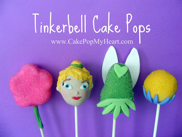 Disney Tinker Bell Birthday Party Cake Pops