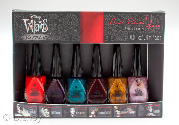 Disney Villains Designer Collection 6-Color Nail Polish Box Set