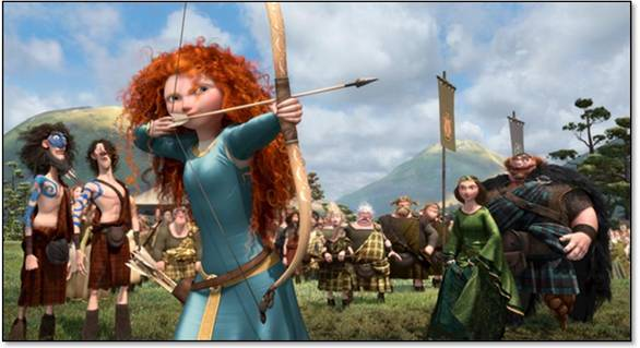 Merida Shooting Bow and Arrow